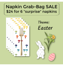Picking Daisies Easter Themed Grab-Bag Dinner Napkin Set of 6