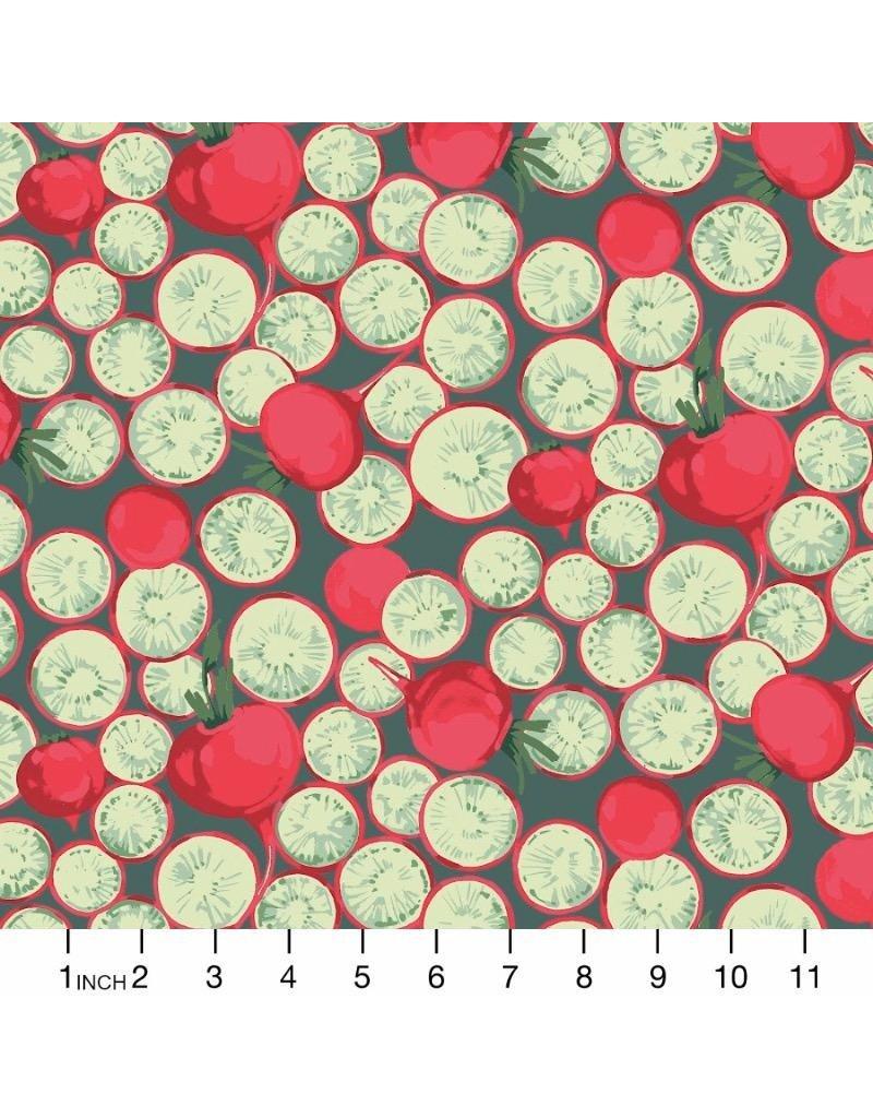 PD's Martha Negley Collection Veggies, Radish Coins in Dark, Dinner Napkin