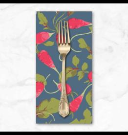PD's Martha Negley Collection Veggies, Radishes in Dark, Dinner Napkin