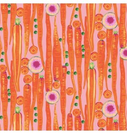 Martha Negley Veggies, Carrots in Bright, Fabric Half-Yards  PWMN003