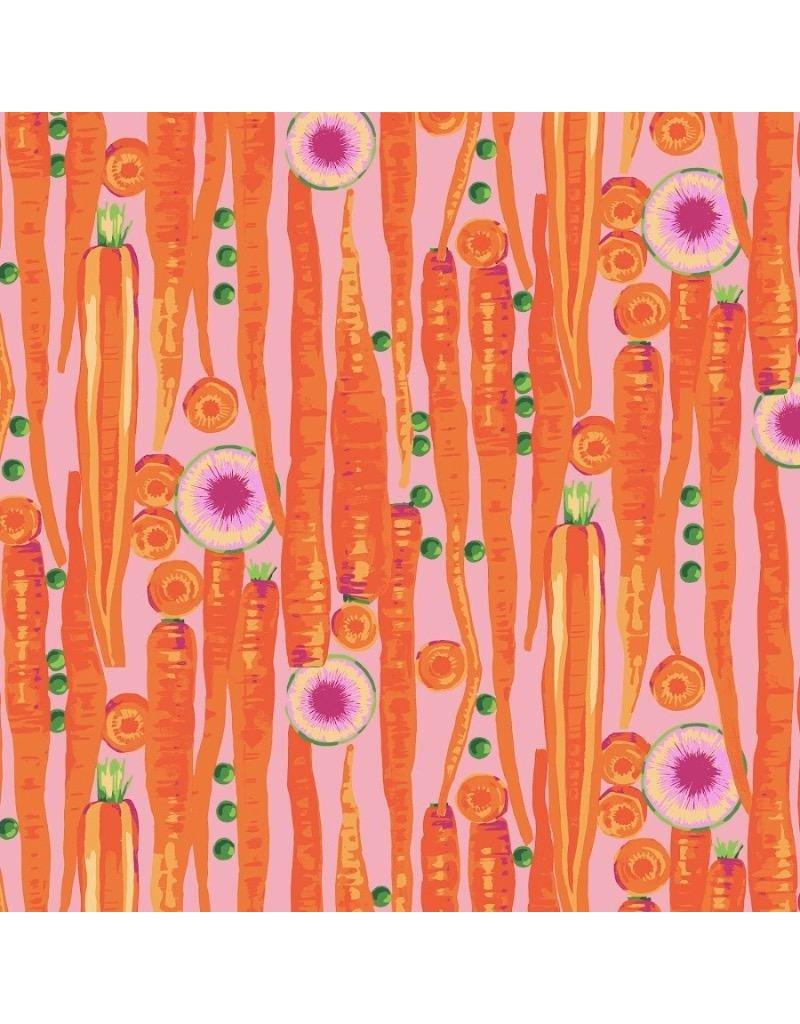 Martha Negley Veggies, Carrots in Bright, Fabric Half-Yards  PWMN003
