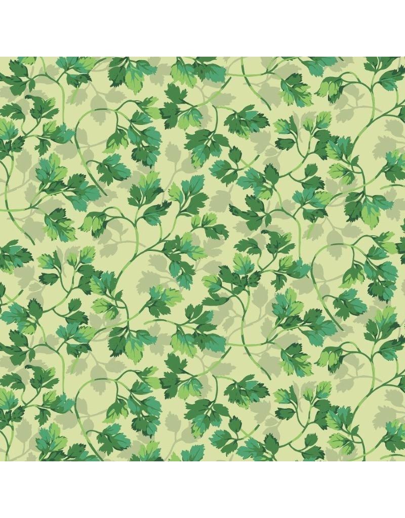 Martha Negley Veggies, Parsley in Bright, Fabric Half-Yards  PWMN006