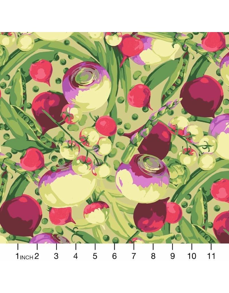 Martha Negley Veggies, Mixed Vegetables in Bright, Fabric Half-Yards  PWMN001