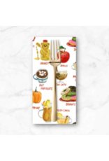 PD's August Wren Collection Falling for You, Fall Treats in White, Dinner Napkin