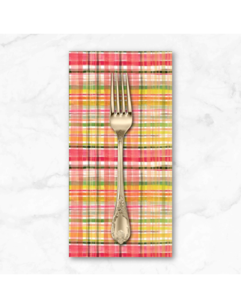 PD's August Wren Collection Falling for You, Fall Plaid in Multi, Dinner Napkin