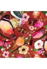 August Wren Falling for You, Moody Birds in Multi, Fabric Half-Yards STELLA-DAW1574