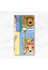 PD's Mia Charro Collection Forest Friends, Panel in Multi, Dinner Napkin