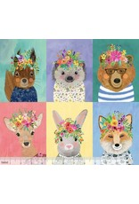 Mia Charro Forest Friends, Panel in Multi, Fabric Half-Yards 129.104.01.1