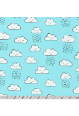 Robert Kaufman Neighborhood Pals, Clouds in Cloud, Fabric Half-Yards ADYD-19654-216