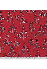 Jennifer Sampou Winter Shimmer 2, Holly Berry in Crimson, Fabric Half-Yards AJSP-19945-91