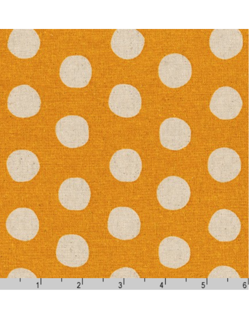 Sevenberry Canvas, Sevenberry Natural Dots in Gold, Fabric Half-Yards SB-88187D1-10