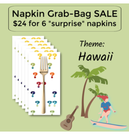 Picking Daisies Hawaii Themed Grab-Bag Dinner Napkin Set of 6
