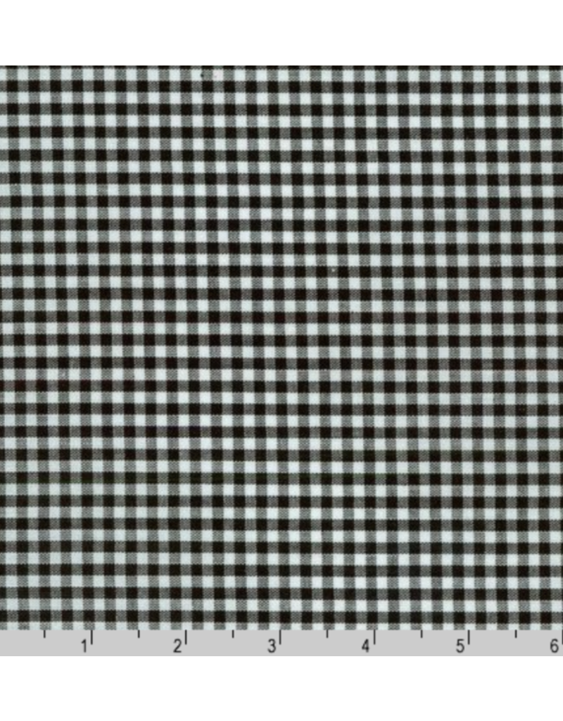 "Robert Kaufman Carolina Gingham, 1/8"" in Black, Lightweight Yarn Dyed Woven, Fabric Half-Yards P-5689-11"