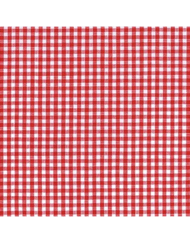 "Robert Kaufman Carolina Gingham, 1/8"" in Crimson, Lightweight Yarn Dyed Woven, Fabric Half-Yards P-5689-19"