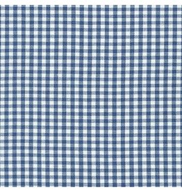 "Robert Kaufman Carolina Gingham, 1/8"" in Denim, Lightweight Yarn Dyed Woven, Fabric Half-Yards P-5689-67"