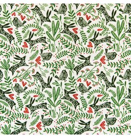 RJR Fabrics Winter Dreams, Best Buddies in Spruce, Fabric Half-Yards JM103-SP3