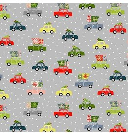 Andover Fabrics Joy, Cars in Grey, Fabric Half-Yards TP-2232-S