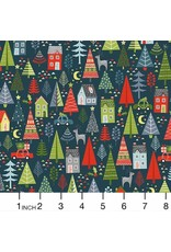 Christmas Collection Joy, Trees in Spruce Blue, Dinner Napkin