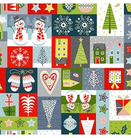 Andover Fabrics Joy, Montage in Multi, Fabric Half-Yards TP-2230-1