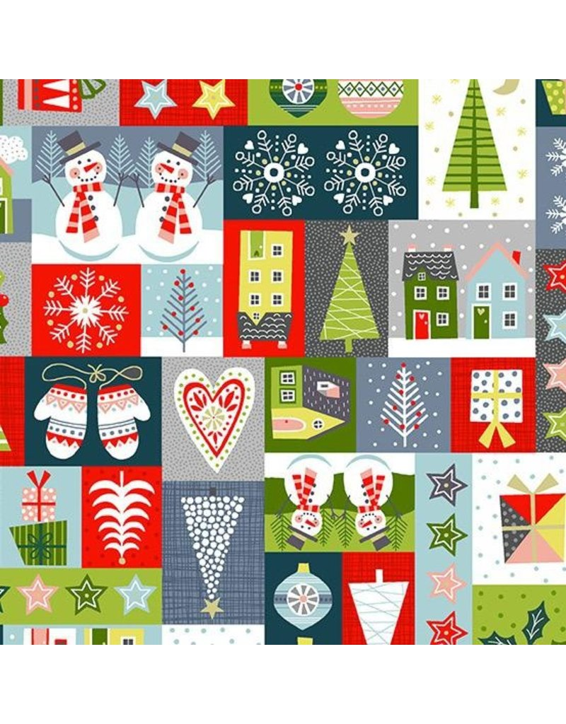 Andover Fabrics Joy, Montage in Multi, Fabric Half-Yards TP-2230-1