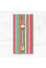 Christmas Collection Let it Snow, Dottie Stripe in Multi, Dinner Napkin