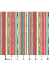 Andover Fabrics Let it Snow, Dottie Stripe in Multi, Fabric Half-Yards TP-1496-R