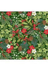 Andover Fabrics Yuletide, Foliage in Green, Fabric Half-Yards TP-2242-G
