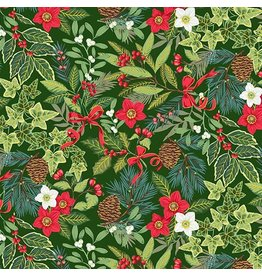 Andover Fabrics Yuletide, Foliage in Green, Fabric Half-Yards TP-2242-G