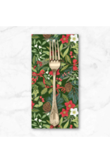 Christmas Collection Yuletide, Foliage in Green, Dinner Napkin
