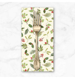 Christmas Collection Yuletide, Scatter in Cream, Dinner Napkin