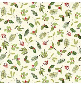Andover Fabrics Yuletide, Scatter in Cream, Fabric Half-Yards TP-2243-Q