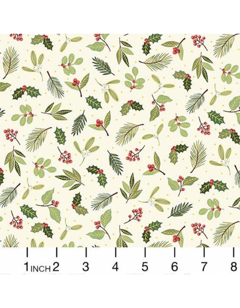 Andover Fabrics Yuletide, Scatter in Cream, Fabric Half-Yards TP-2243-Q