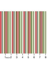 Andover Fabrics Yuletide, Straight Stripe in Multi, Fabric Half-Yards TP-2203-G