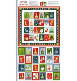 "Andover Fabrics Joy Advent Calendar Panel, 24"" x 42""  TP-2226-1"
