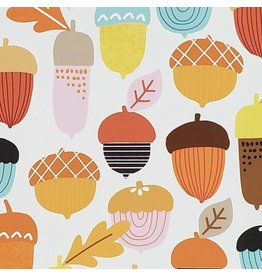 Alexander Henry Fabrics Fall Harvest, Autumn Acorn in Multi, Fabric Half-Yards 8826B