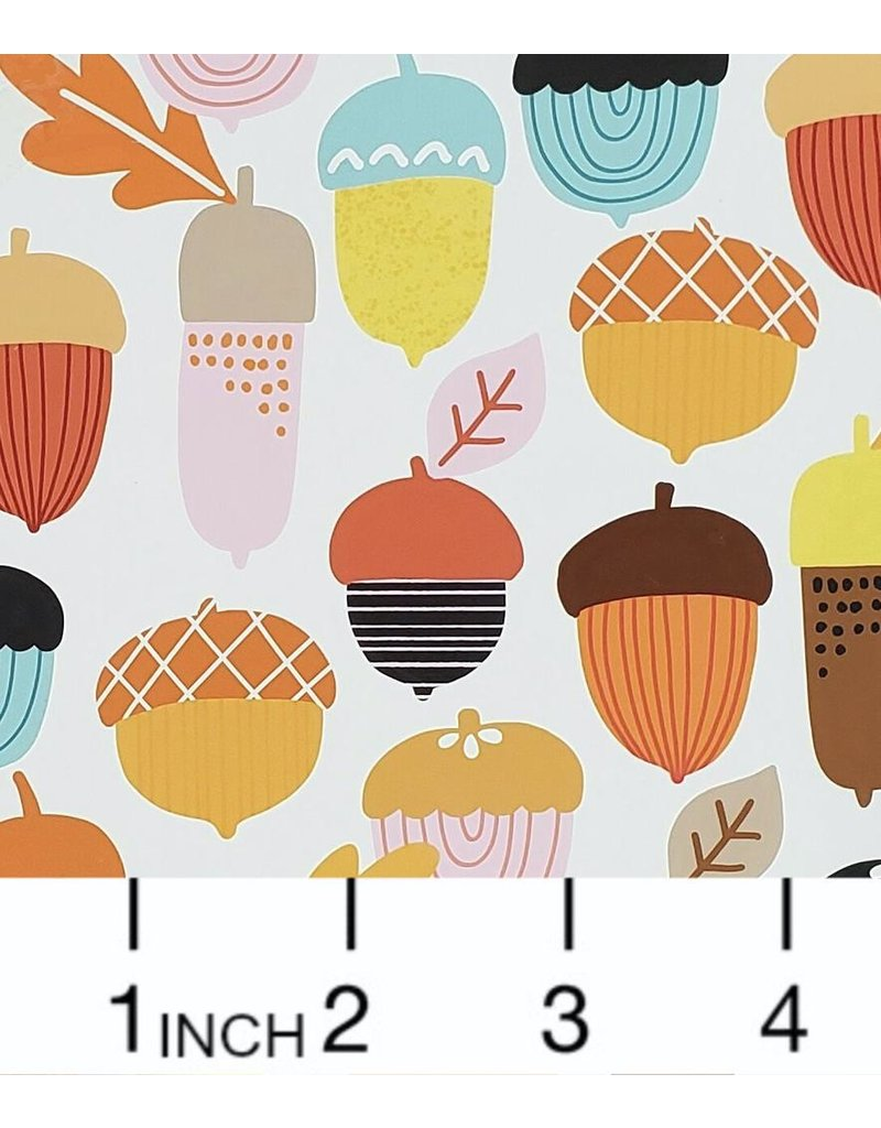 PD's Alexander Henry Collection Fall Harvest, Autumn Acorn in Multi, Dinner Napkin