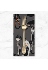 PD's Alexander Henry Collection Haunted House, Going Goth in Charcoal, Dinner Napkin