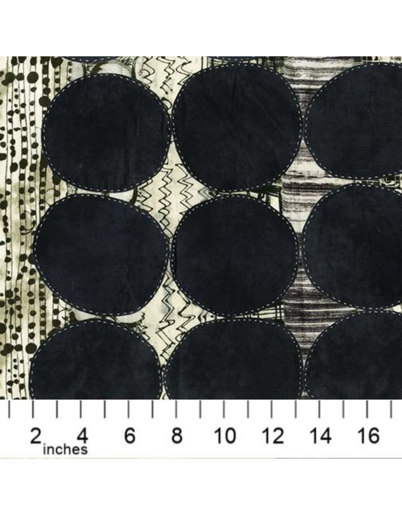 PD's Marcia Derse Collection Curiosity, Circle in Black, Dinner Napkin