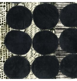 Marcia Derse Curiosity, Circle in Black, Fabric Half-Yards 51955D-1