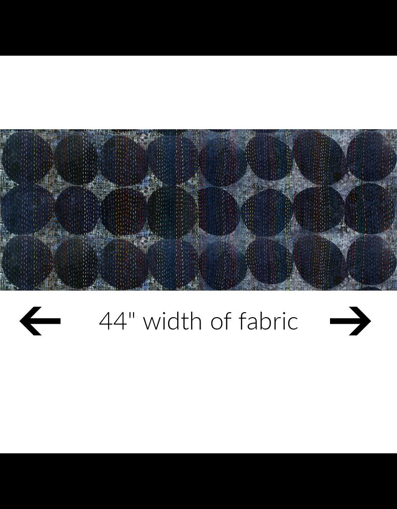 Windham Fabrics Canvas, Curiosity, Circles in Blue, Fabric Half-Yards 51955DC-2