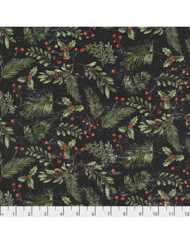 Christmas Collection Yuletide by Tim Holtz, Festive Greens in Black, Dinner Napkin