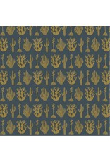 Cotton + Steel All Through the Land, Desert in The Twilight with Metallic, Fabric Half-Yards AM102-ITT3M