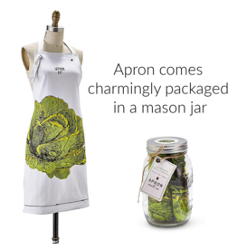 """BACK IN STOCK MID OCTOBER-Farm to Table, Apron in a Mason Jar """"Lettuce Eat"""""""
