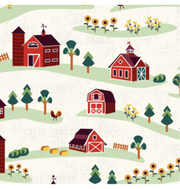 RJR Fabrics Lil' Bit Country, Barnyard in Storybook, Fabric Half-Yards RJ1900-ST1