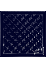 Olympus Sashiko Sampler Cloth, Traditional Design Nowaki, Navy SC-0201