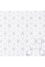 Olympus Sashiko Sampler Cloth, Traditional Design Hana-zashi, White SC-0012