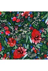 August Wren December to Remember, Holiday Blooms, Fabric Half-Yards STELLA-DAW1581