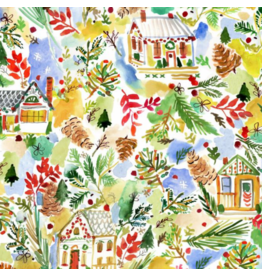August Wren December to Remember, Home for the Holidays, Fabric Half-Yards STELLA-DAW1583