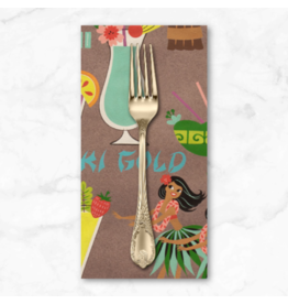 PD's Alexander Henry Collection Tiki Dreams, Rum Swizzle in Burlap, Dinner Napkin