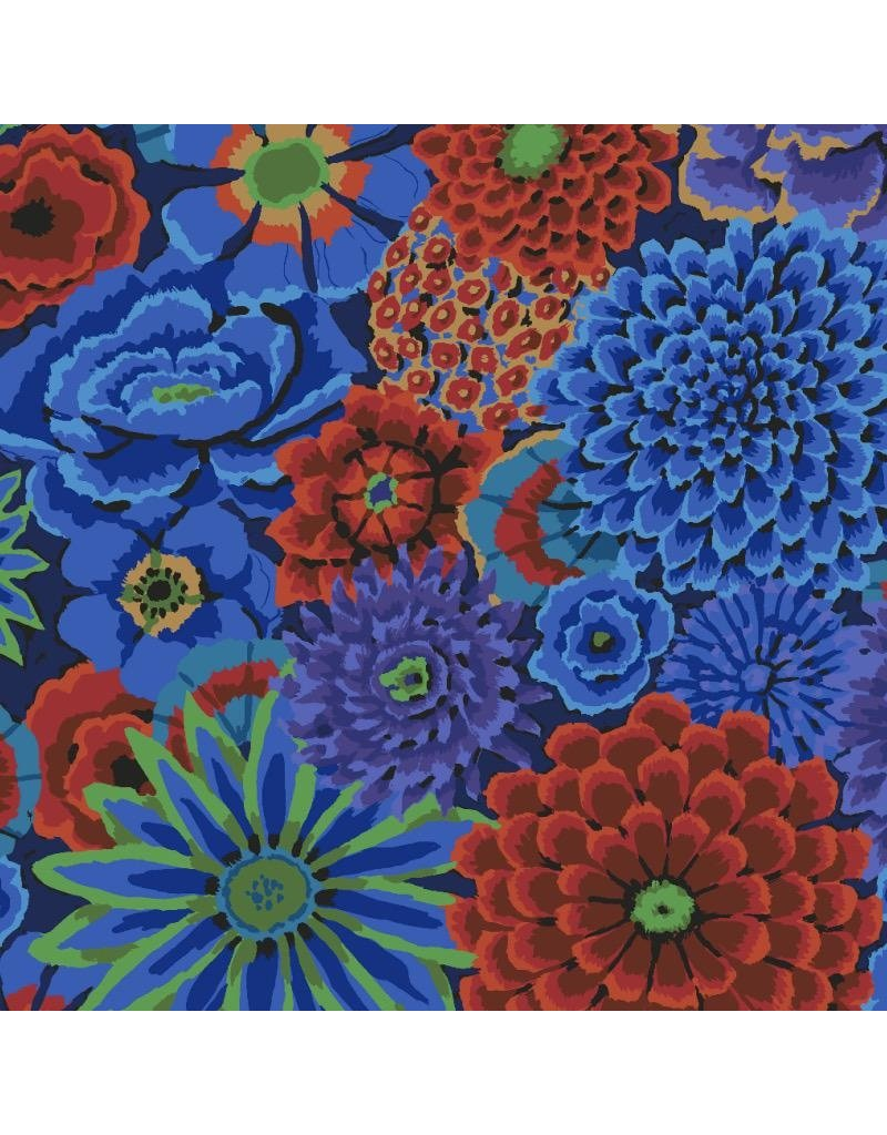 Kaffe Fassett Kaffe Collective 2020, Enchanted in Cobalt, Fabric Half-Yards  PWGP172